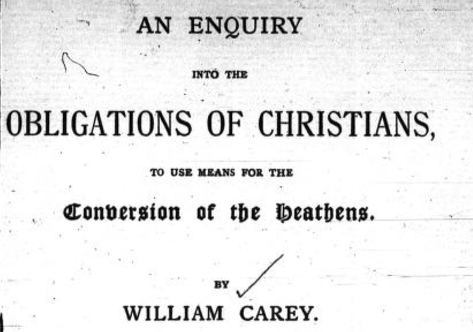 William Carey Enquiry Book Cover